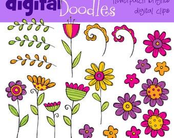 KPM bright flower patch digital clip art