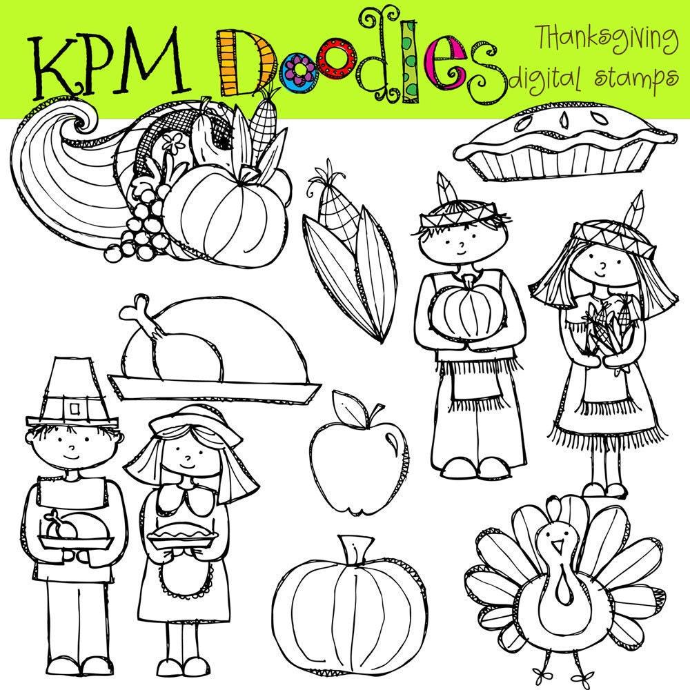KPM Thanksgiving Digital Clip art black line