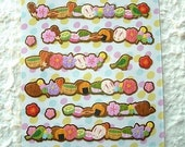 Japanese Stickers Kawaii Chiyogami Paper Ume