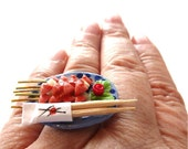 Japanese Food Ring Miniature Meat on Skewer Set