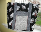 Knitting Tote or Diaper Bag  Timeless Treasures Fabric  (must be ordered)
