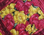 Was 25.95 now 17.95 Floral Table Runner in Red Tulips and Yellow Daffodils