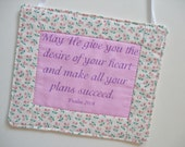 Scripture Wall Art Mini Quilt