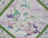 Pastel Floral Wall Hanging or Table Topper fabric from Hoffman Springtime in Kyoto