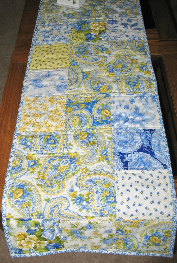 Summer Table Runner made with fabric from Moda Summer Breeze line