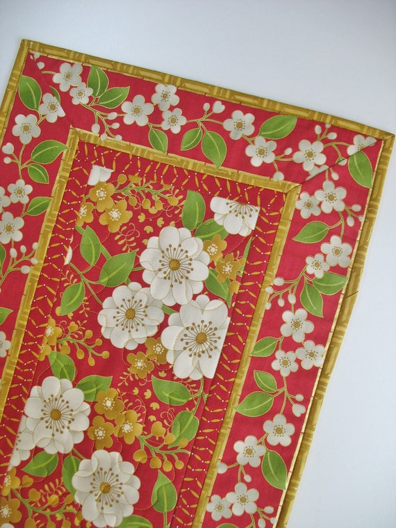 Floral Table Runner Quilted fabric from Andover Jubilee line