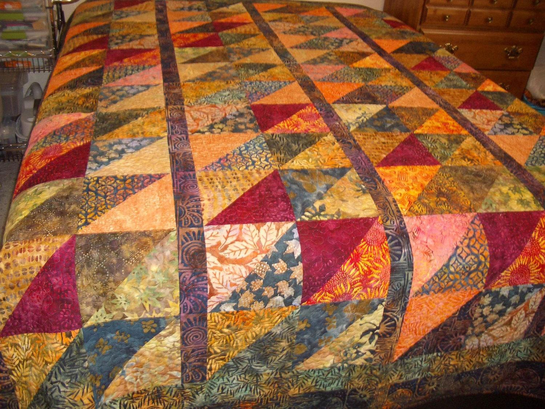 Batik Queen Quilt Reversible