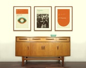 BOWIE, BEATLES, ROLLING Stones Inspired, Art Print Concert Poster Series - 12 x 18 Minimalist, Graphic, Mid Century Modern, Retro Home
