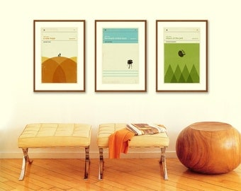 STAR WARS Inspired Poster, Art Print Movie Series - 12 x 18 Minimalist, Nursery, Graphic, Mid Century Modern, Vintage Style, Retro Home