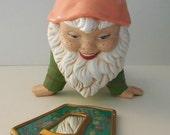 1970s Ceramic Spring Garden Gnome
