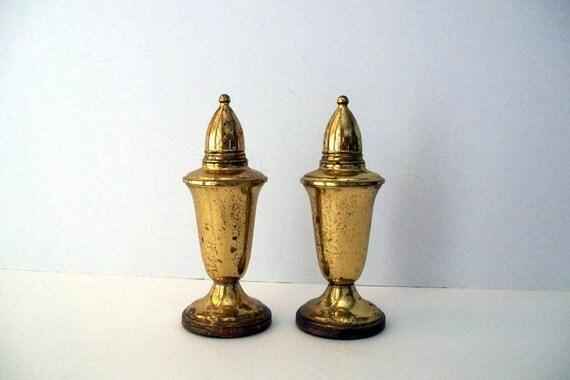 Brass Salt & Pepper Shakers By Crown