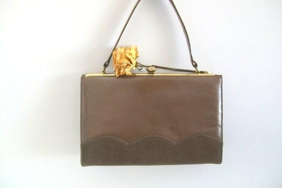 Mod Brown Vintage Handbag/Purse