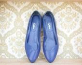 Calico Royal Blue Flats 7.5