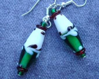 Unique Lampwork Glass Earrings