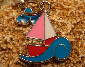 Sail Boat Cell Phone Charm
