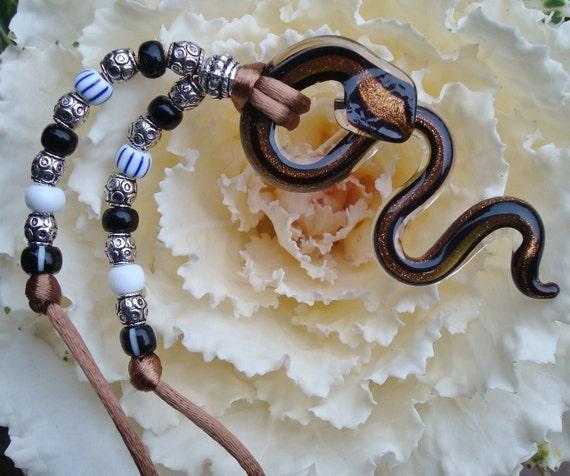 Glass Snake Necklace