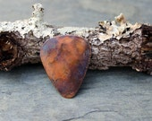 Copper Guitar Pick with Patina effect can be a necklace, keychain, or an functional guitar pick