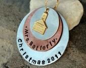 Handstamped Teacher Ornament