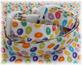 READY To SHIP Dog Collar Jelly Bean Fun Colorful Crazy for Jelly Beans Assorted Colors Adjustable Dog Collar D Ring Egg Hunt Accessory Pet