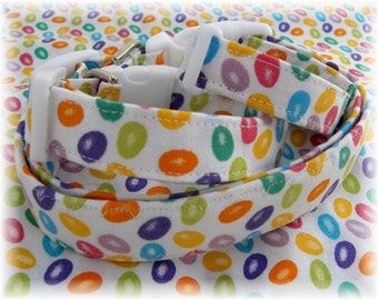 Dog Collar Jelly Bean Fun Colorful Crazy for Jelly Beans Assorted Colors Adjustable Dog Collar D Ring Choose Size Egg Hunt Accessory Pet