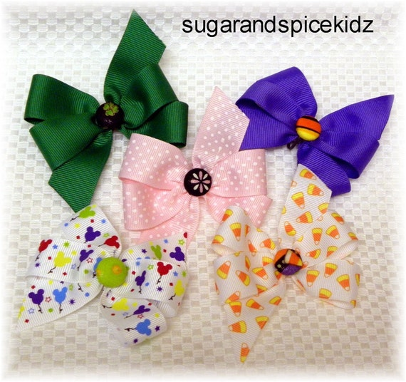 BOWS add a bow to your Dog Collar  Step In Harness or Adjustable D Ring Dog Leash Dogs Hair Choose Size and  Ribbon