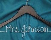 Personalized Bridal Hanger  Modern Bride