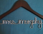 Personalized Bridal Hanger, Classic Bride