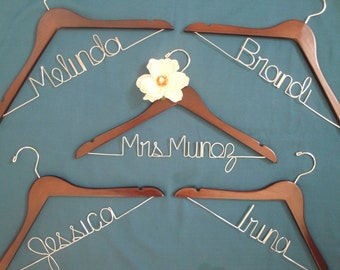 Personalized bridal hanger, modern bride, bridal party