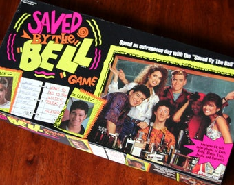 Vintage Saved By The Bell Board Game Retro Complete 1992