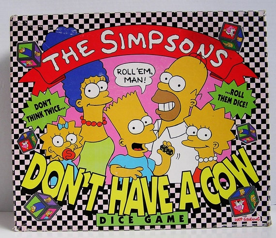 The Simpsons Board Game Dont Have A Cow 1990