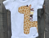 Giraffe Onesie for Boy or Girl- Gender Neutral