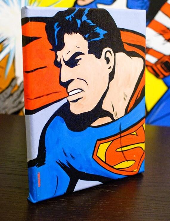 Retro Superman 8x10 on Canvas