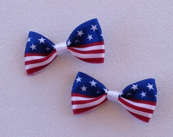 4th of July Patriotic Hair Bow