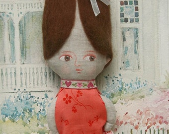 Gift set, Kelly art doll,  Gift bag, by DreamsKingdom