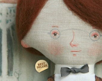 Little Johnny art doll and  gift bag, by DreamsKingdom