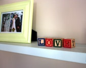 Children's Wooden Alphabet Blocks Vintage LOVE (4)