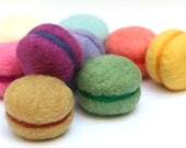 Needle felted Macaron cakes 3 piece play food set (choose your flavours)