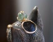 Willow - Ring - Aquamarine, 14K Gold