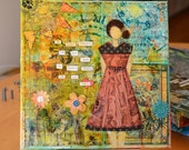 SHE -4- Mixed Media Painting on Canvas