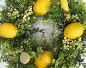 LEMONS - Cheerful Yellow -Four Season -KITCHEN -Spring- Summer- WREATH -Free Shipping