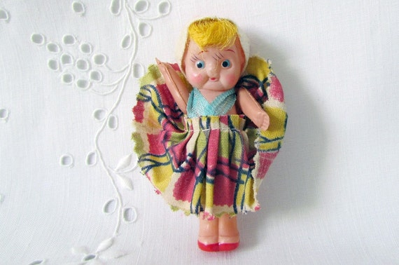 Vintage Doll Celluloid Adorable Miniature