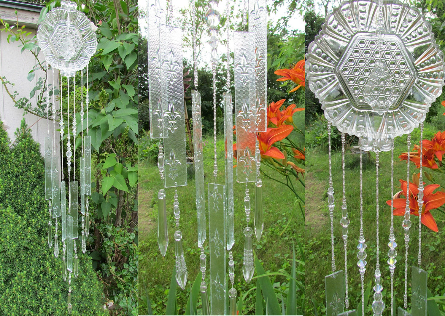 glass wind chime handmade form stained glass by
