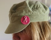 Breast cancer pin, courage, pink ribbon