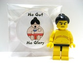 Sumo Wrestler - No Gut, No Glory - Funny Wood Magnet