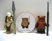 Star Wars - Ewoks Rock - Funny Wood Magnet
