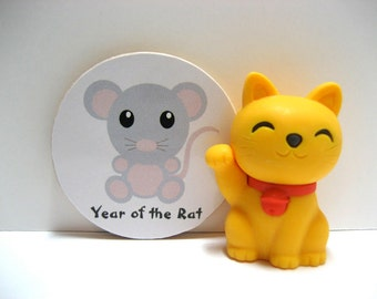 Chinese Zodiac - Year of the Rat - Wood Magnet