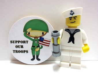 Cute Soldier - Support Our Troops - Wood Magnet