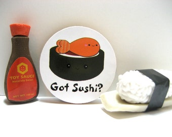 Kawaii - Got Sushi? - Wood Magnet