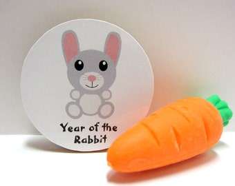Chinese Zodiac - Year of the Rabbit - Wood Magnet