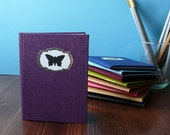 Purple Pocket Notebook - The Collector - Butterfly